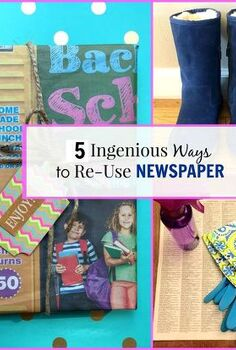 5 ingenious ways to re use newspaper, cleaning tips, crafts, how to, repurposing upcycling