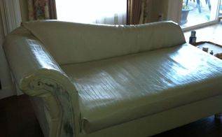 fainting couch revival, painted furniture, repurposing upcycling, reupholster