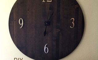 diy oversized modern rustic round clock, crafts, diy, woodworking projects