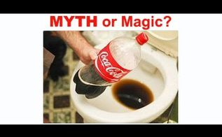 myth or magic soda toilet cleaning hack, bathroom ideas, cleaning tips, Wonder if it Work Watch Now