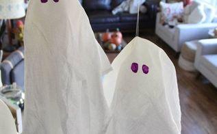 budget halloween decor simple fabric ghosts, halloween decorations, home decor, seasonal holiday decor, reupholster