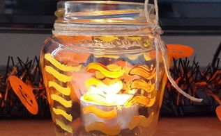 easy fall jar craft, crafts, home decor, mason jars, seasonal holiday decor