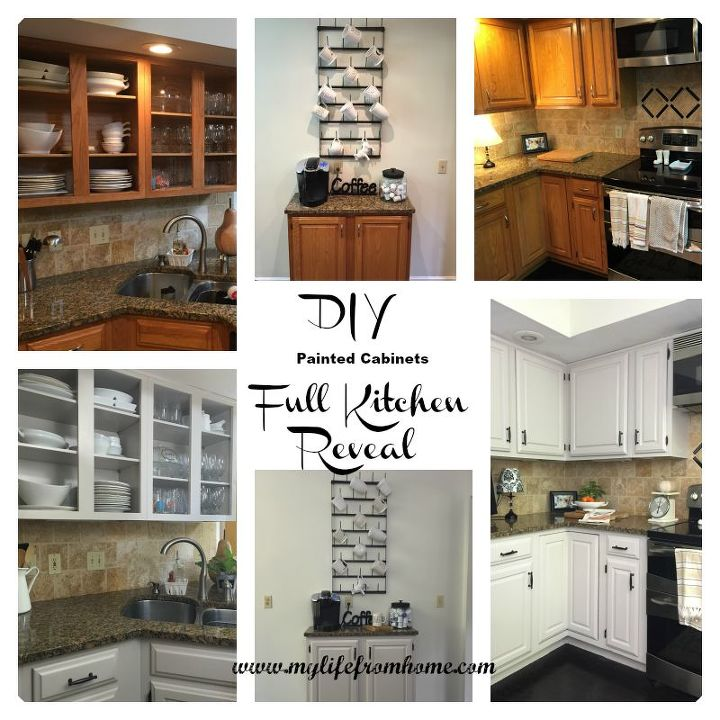 Diy painted kitchen cabinets hometalk for Diy kitchen cabinets