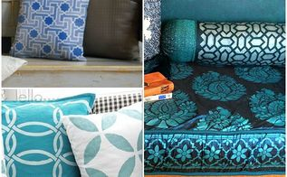 stenciled pillows for every style, home decor, living room ideas
