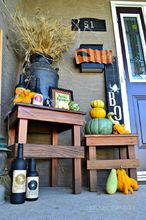 spooky fall porch decor, crafts, halloween decorations, porches, seasonal holiday decor