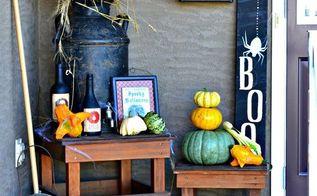 spooky fall porch decor, crafts, halloween decorations, porches, seasonal holiday decor