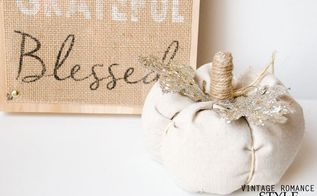 easy diy fabric drop cloth pumpkins, crafts, seasonal holiday decor