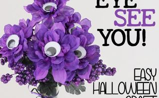 eye see you quick halloween bouquet, crafts, flowers, halloween decorations, seasonal holiday decor