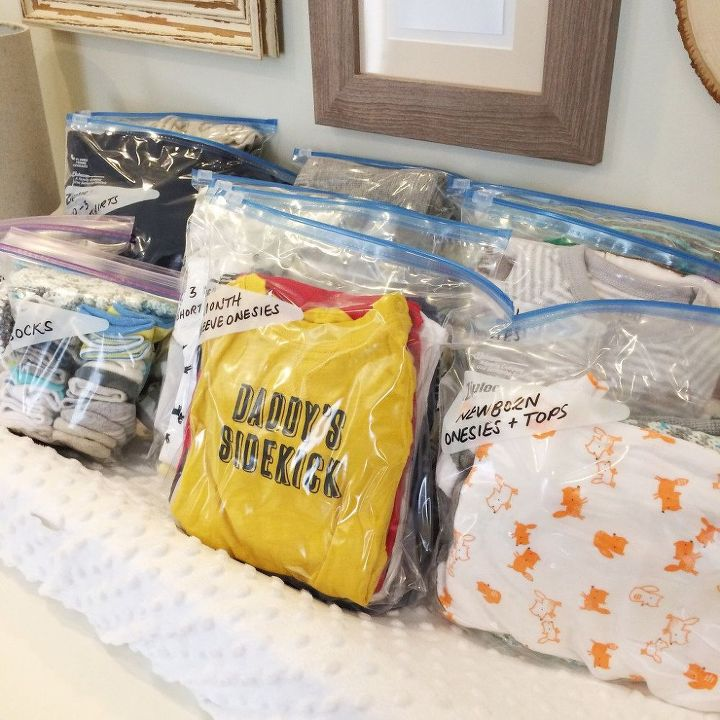 Baby clothes storage hometalk for Baby clothes size organizer