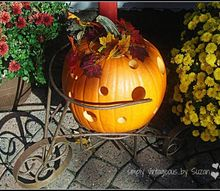 holey pumpkin, seasonal holiday decor