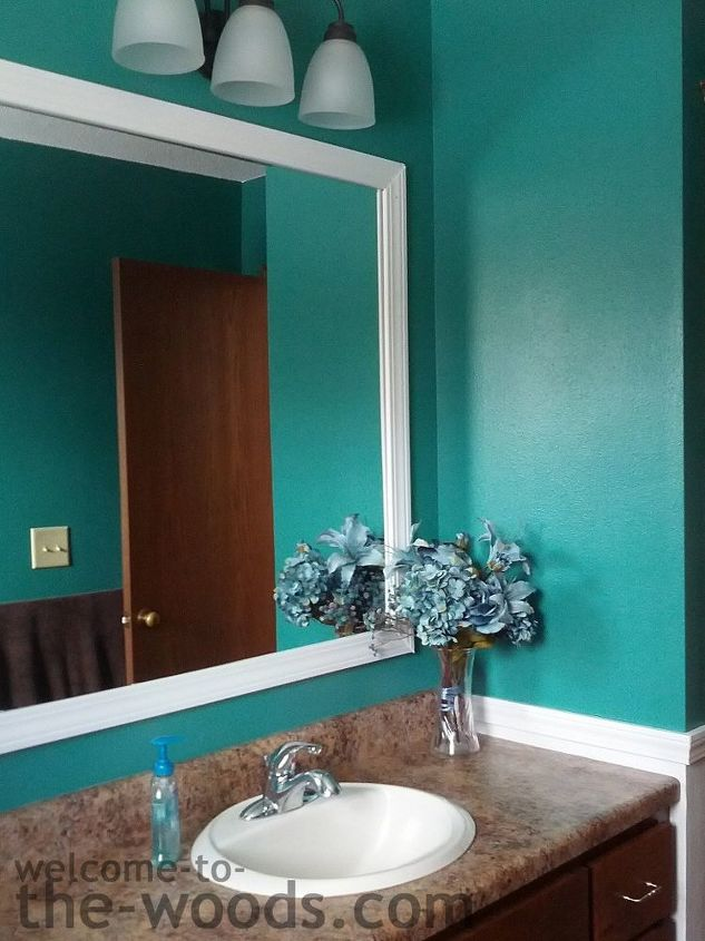 Bathroom redo for only 27 hometalk for Bathroom ideas teal