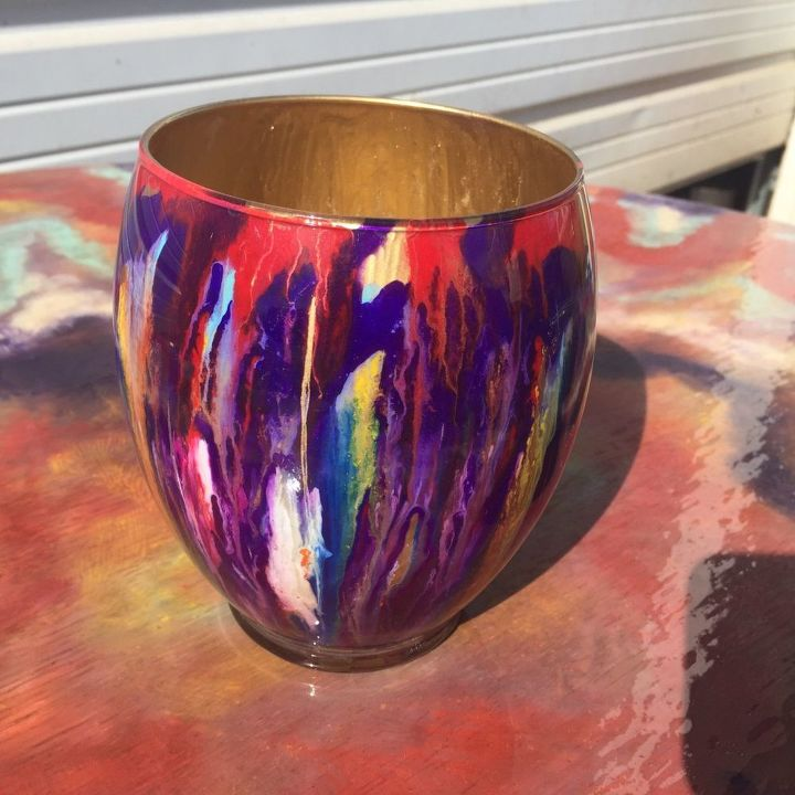 Check out this cool glass that i have been painting with for What is spit paint