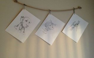 add a rustic touch by hanging pictures with rope, crafts, home decor, wall decor