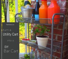 from utility cart to bar cart, outdoor living, repurposing upcycling