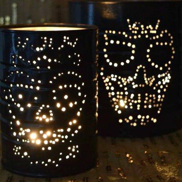 scary skull luminaries