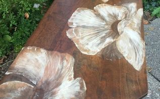 painting with wood stain 80 s table gets a makeover, painted furniture