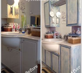 Bathroom Cabinets Makeover With Chalk Paint, Bathroom Ideas, Chalk Paint,  Painting, Before