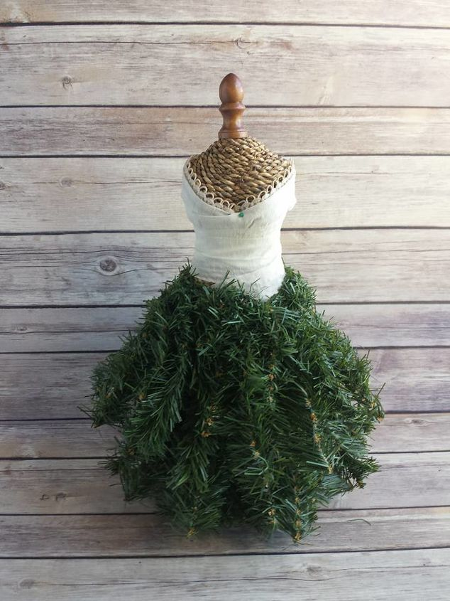 Dress form christmas tree mini hometalk