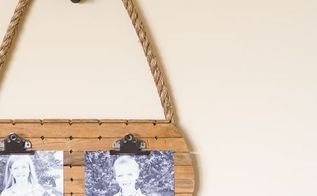 hanging pulley photo display, crafts, wall decor
