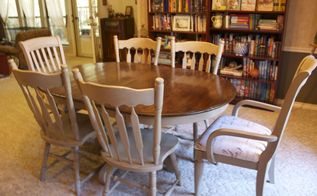 dining room table redo, painted furniture