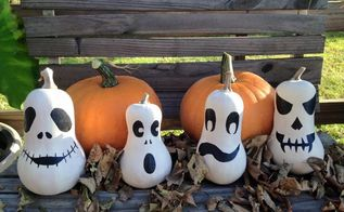transforming butternut squash into ghosts, crafts, halloween decorations, seasonal holiday decor, Butternut Squash Ghosts