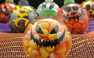 halloween candy ornaments, crafts, halloween decorations, seasonal holiday decor