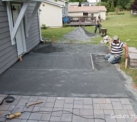 A Paver Patio Installation, Concrete Masonry, Landscape, Outdoor Furniture,  Outdoor Living,