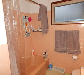 Pink Tile Bathroom Redo, Bathroom Ideas, Home Improvement