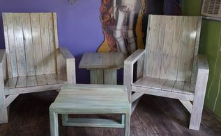 i spit all over this pallet furniture spitchallenge, painted furniture, pallet