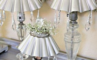 vintage lamps two different uses outdoor solar lighting and home decor, diy, home decor, lighting, repurposing upcycling