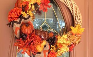 diy fall wreath, crafts, seasonal holiday decor, wreaths