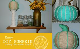 easy diy pumpkins with macrame cord ice cream, crafts, halloween decorations, home decor, seasonal holiday decor
