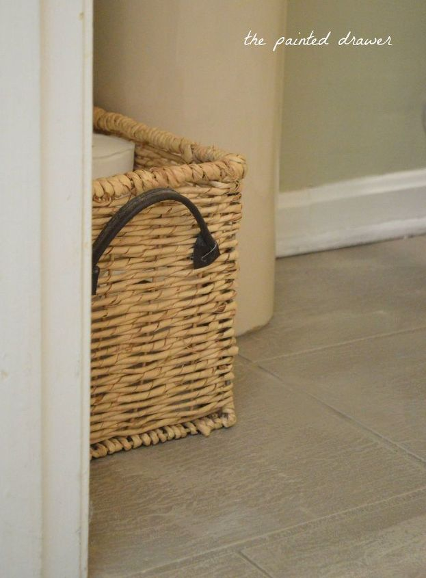 How to create the look of a stone floor out of old for Used linoleum flooring
