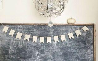 simple diy banner, crafts, seasonal holiday decor