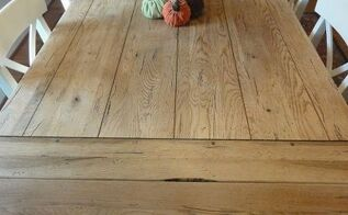 farmhouse table to restoration hardware hack, painted furniture
