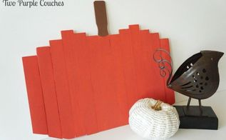 paint stick pumpkins, crafts, how to, seasonal holiday decor