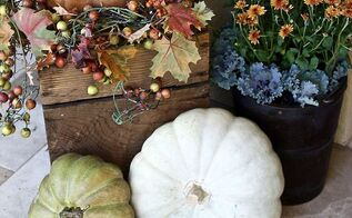 easy fall outdoor decor ideas, crafts, seasonal holiday decor