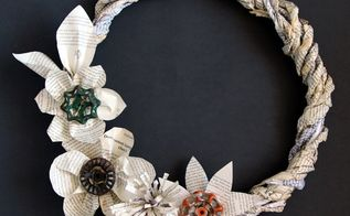 old book grapevine wreath, crafts, repurposing upcycling, seasonal holiday decor, wreaths