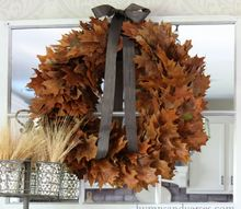 easy real oak leaf wreath, crafts, seasonal holiday decor, wreaths