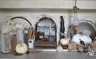 fall rustic vignette home for fall, crafts, seasonal holiday decor