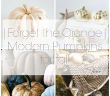 forget the orange modern pumpkins for fall, crafts, halloween decorations, home decor