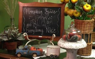 welcome fall quick decorating tips, chalkboard paint, crafts, seasonal holiday decor