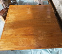 q oak table discolorations, furniture cleaning, furniture refurbishing, painted furniture