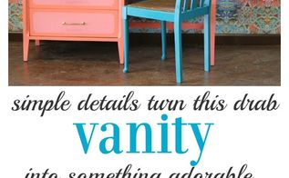 diy furniture upcycle a dresser vanity, painted furniture