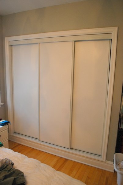 painted sliding closet doors faux trim effect closet painting