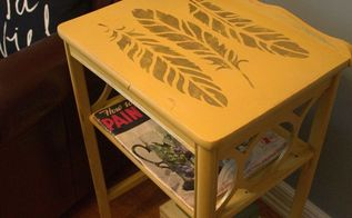 feathered side table makeover fabflippinfurniture, painted furniture