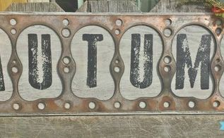 an industrial fall sign from a repurposed barn find, crafts, repurposing upcycling, seasonal holiday decor