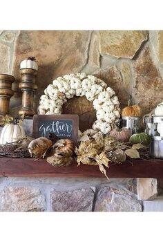 fall mantle 2015, fireplaces mantels, seasonal holiday decor