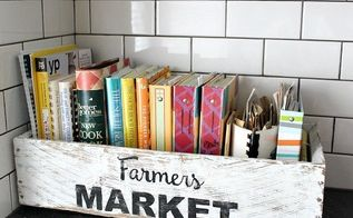 diy cookbook box, crafts