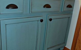 builders grade teal bathroom vanity upgrade for only 60, bathroom ideas, chalk paint, painted furniture, small bathroom ideas